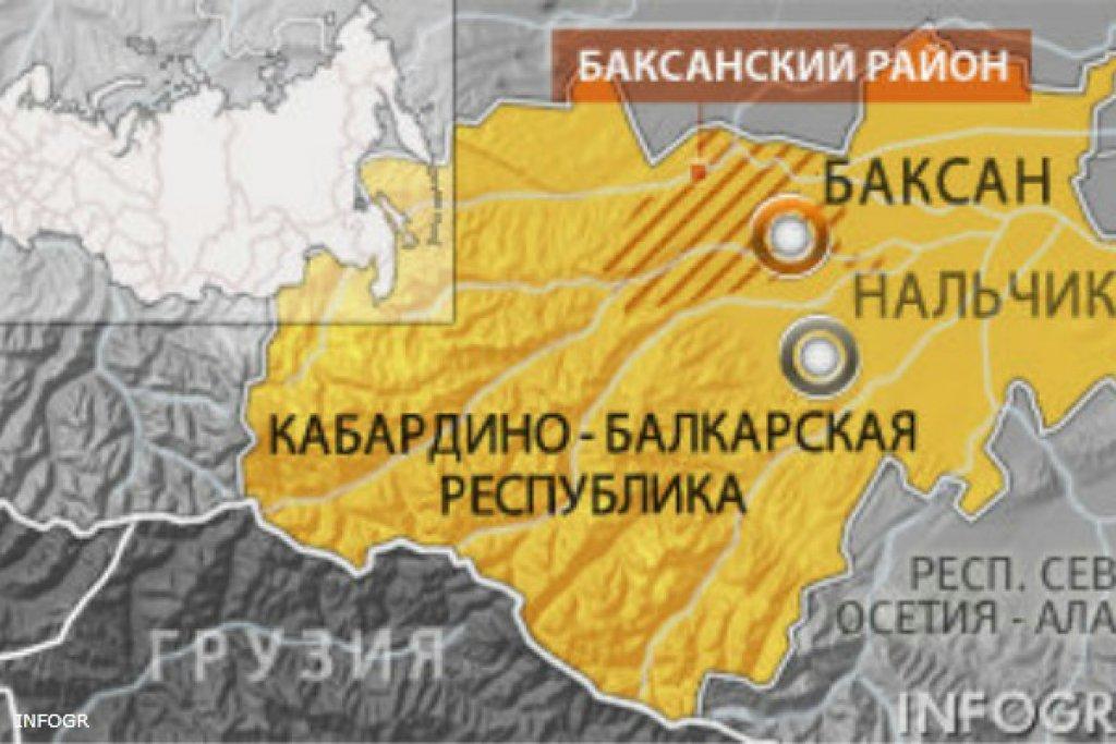 В Баксане при перестрелке ранены двое полицейских, один из нападавших убит